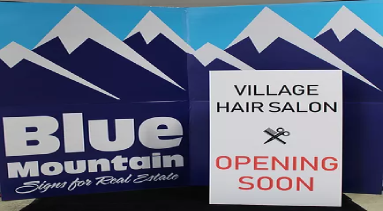 Blue Mountain Sign-Coroplast Signs