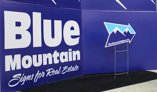 Blue Mountain Sign - Directional Sign