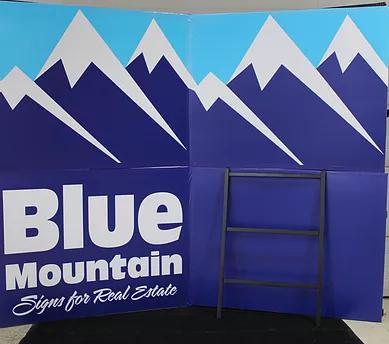 Blue Mountain Sign - Large Metal H Frame