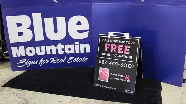 Blue Mountain Sign - Sandwich boards