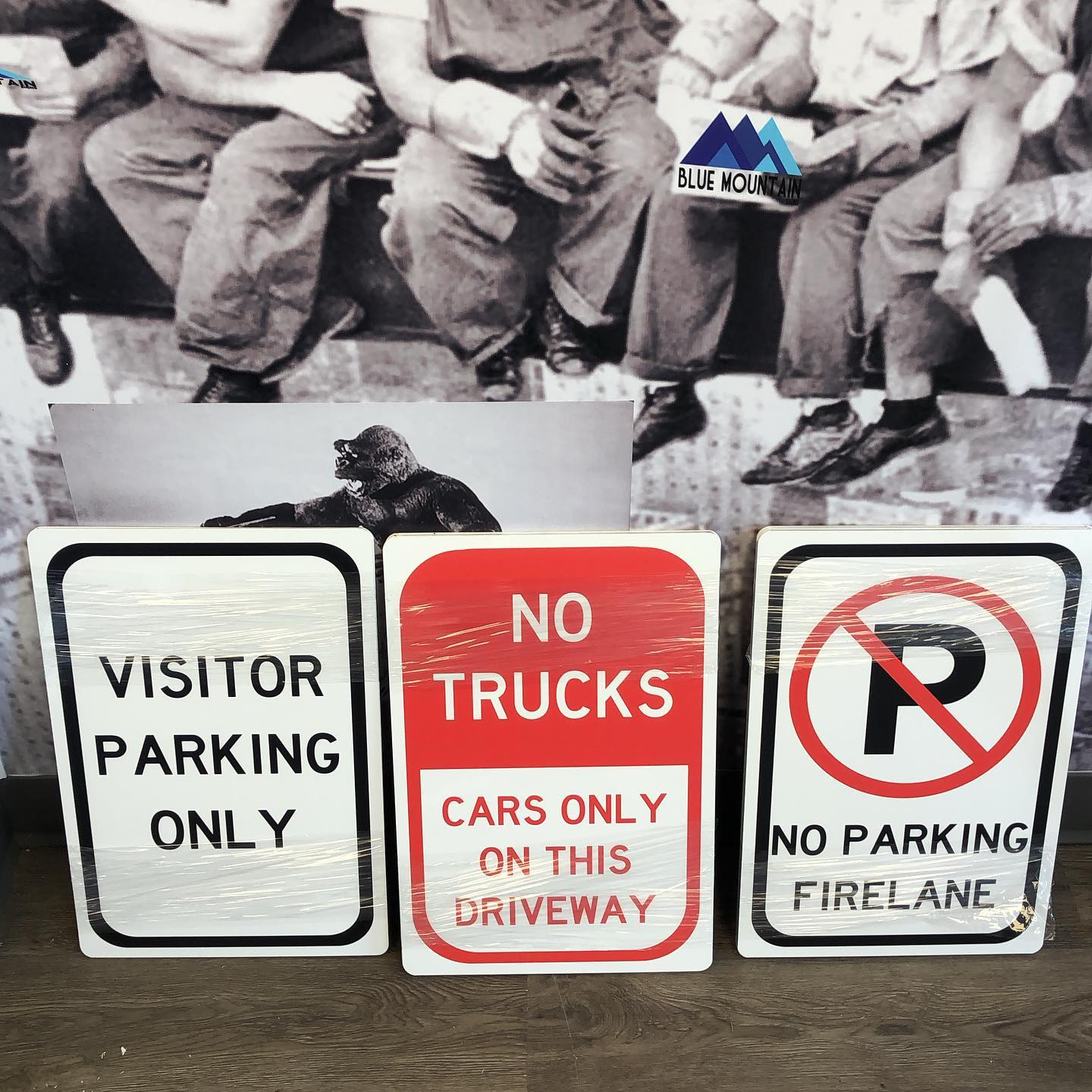 Blue Mountain Signs - parking signs